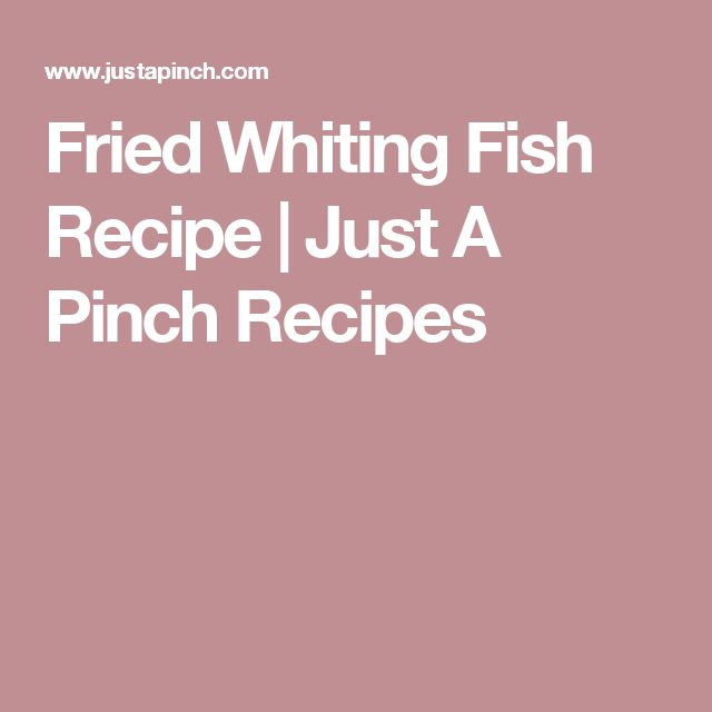 Fried Whiting Fish Recipe | Just A Pinch Recipes