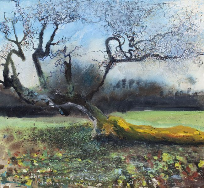 The leaning Oak of Nancealverne, one winters day - Kurt Jackson