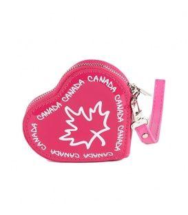 Fuschia Canada Heart Coin Purse