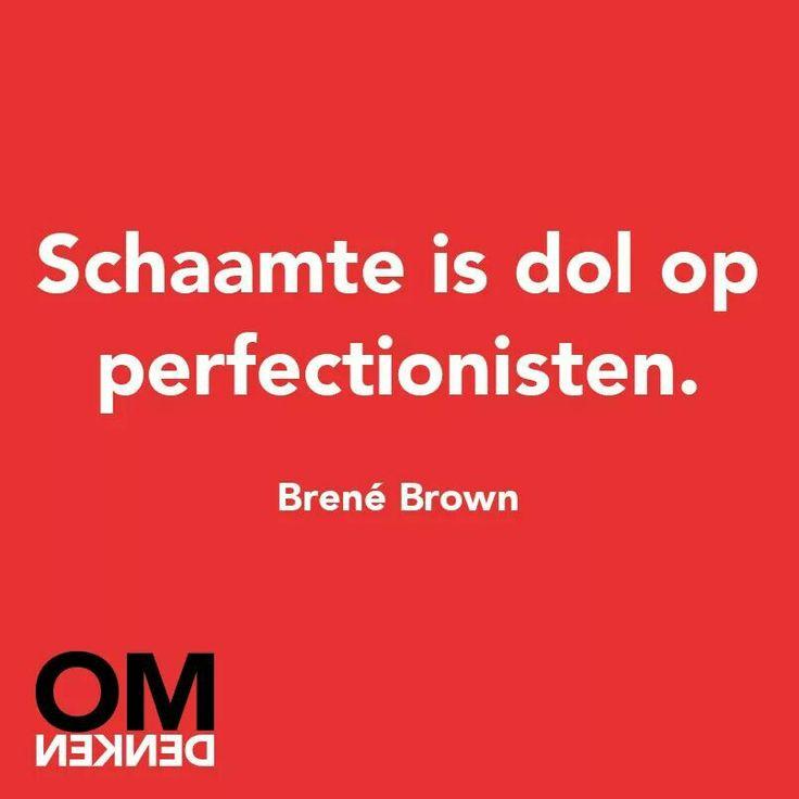Schaamte is dol op perfectionisten