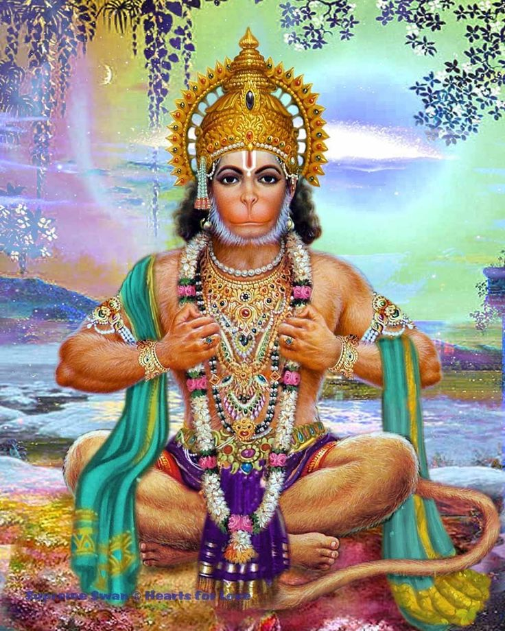 A beautiful fine art print of Lord Hanuman