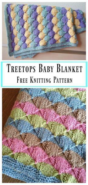 Treetops Baby Blanket Free Knitting Pattern Baby Pinterest