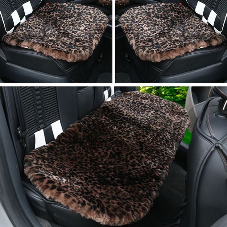 ==> [Free Shipping] Buy Best 3pcs/set car seat covers faux fur Leopard car interior accessories cushion car-styling winter new plush car pad seat cover Online with LOWEST Price | 32786442388