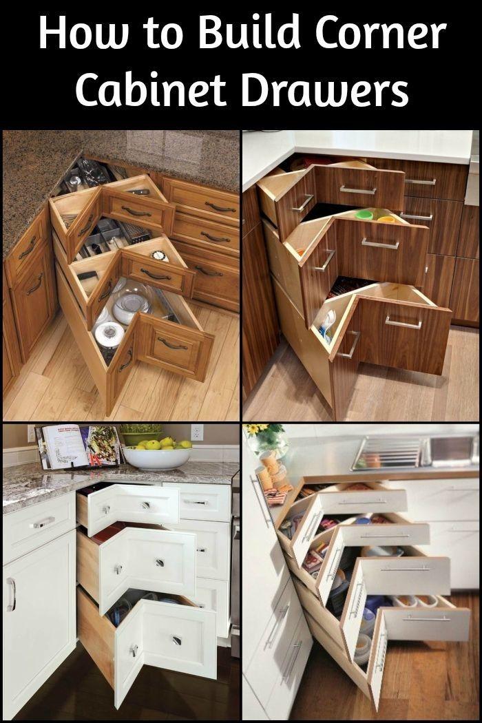 DIY Eckschrank Schubladen Diese sind