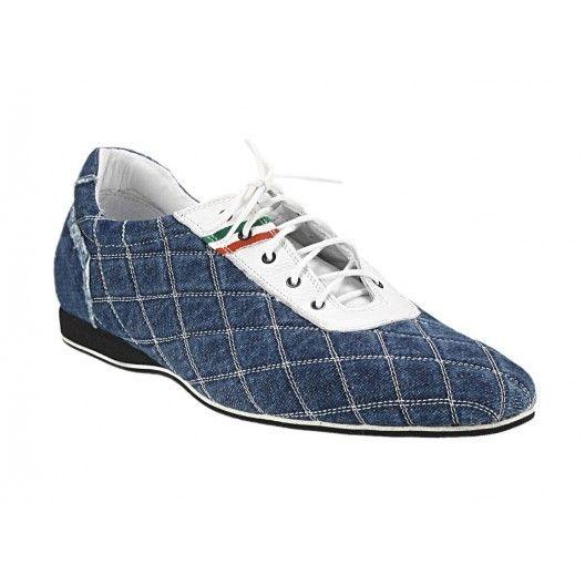 Pánske kožené športové topánky modré - fashionday.eu