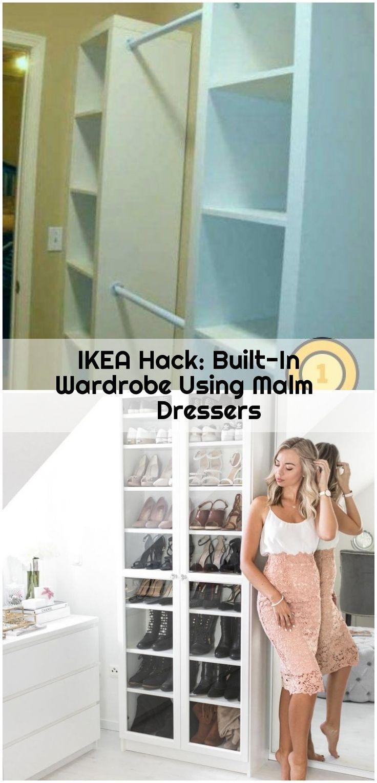 Builtin Dressers Einbauschrank Hack Ikea Malm Mit Ward Ikea