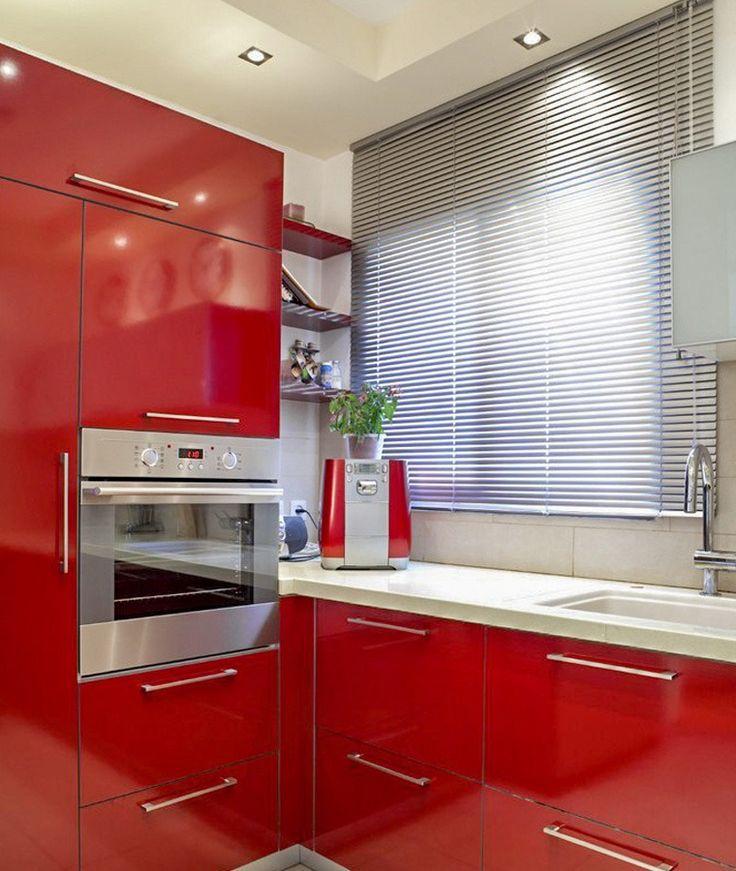 Une cuisine et son store vénitien aluminium, un store sur mesure à tout petit prix, pratique et déco ! #tendance #ideedeco #deco #aluminium #store #blind #indus #storesdiscount