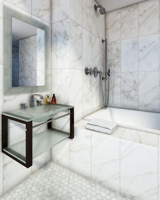 Arquivetro.com.ar Conjunto de mesada de vidrio con estante y toallero, espejo haciendo juego.