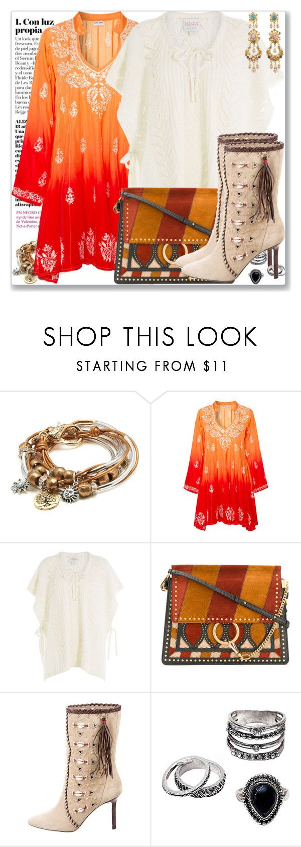 """""""Boho 11.9"""" by rosalol ❤ liked on Polyvore featuring Lizzy James, Juliet Dunn, Claudia Schiffer, Chloé, Tamara Mellon and Ben-Amun"""