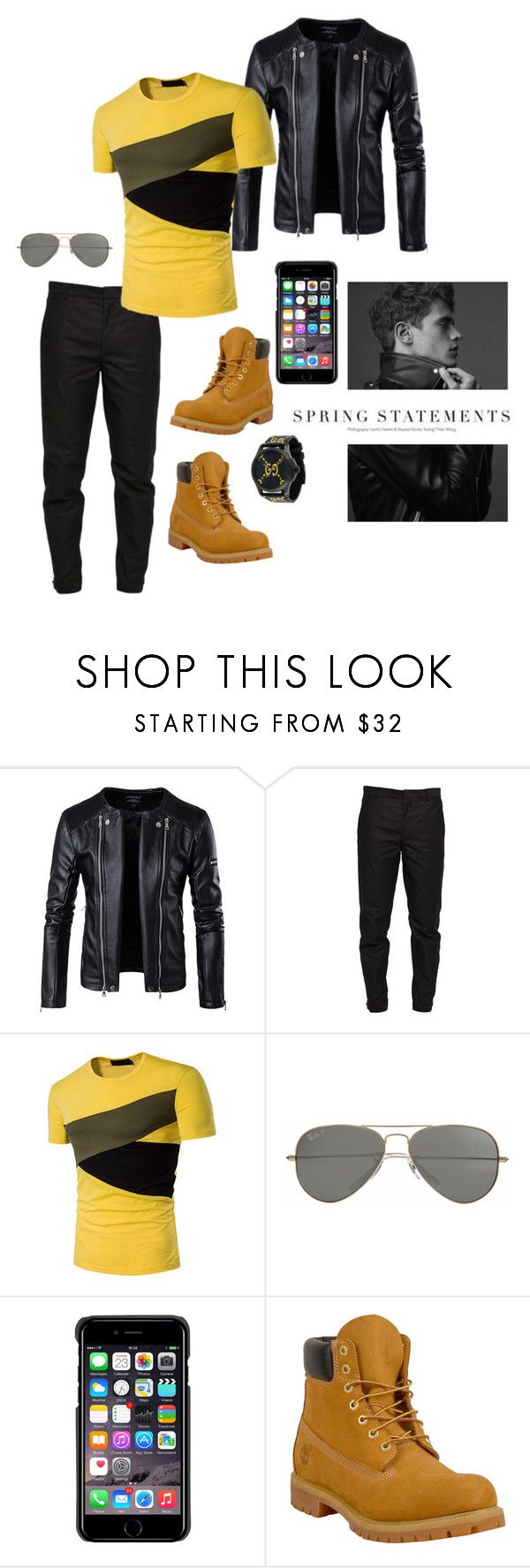 """""""Simple yet Stylish for Men"""" by missamandapmoss ❤ liked on Polyvore featuring Maison Margiela, Parasol, County Of Milan, Timberland, Folio, Gucci, men's fashion and menswear"""