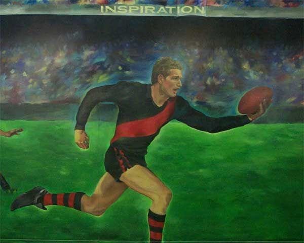 Uncy Herb's Essendon Fan Rant 2004 - Mural: James Hird