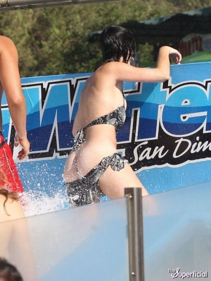 Waterpark bikini lost top