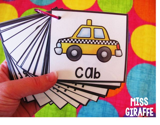 Put picture word cards on a binder ring so kids can easily grab them to read or use in the writing center