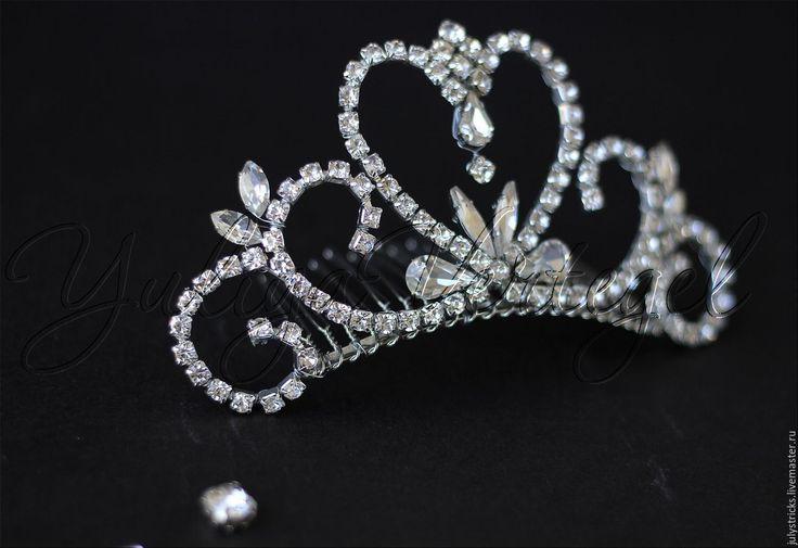 Купить Хрустальная корона для принцессы. Тиара. Корона из кристаллов - серебряный, корона, мини корона