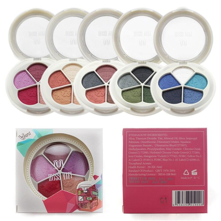 Aliexpress.com : Buy High Quality Makeup 5 Colors Glitter Eyeshadow Palette with…