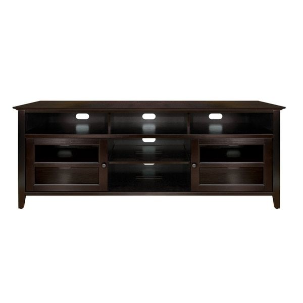 Bell'O WAVS99175 75-inch Dark Espresso TV Stand for TVs up to 80 inches
