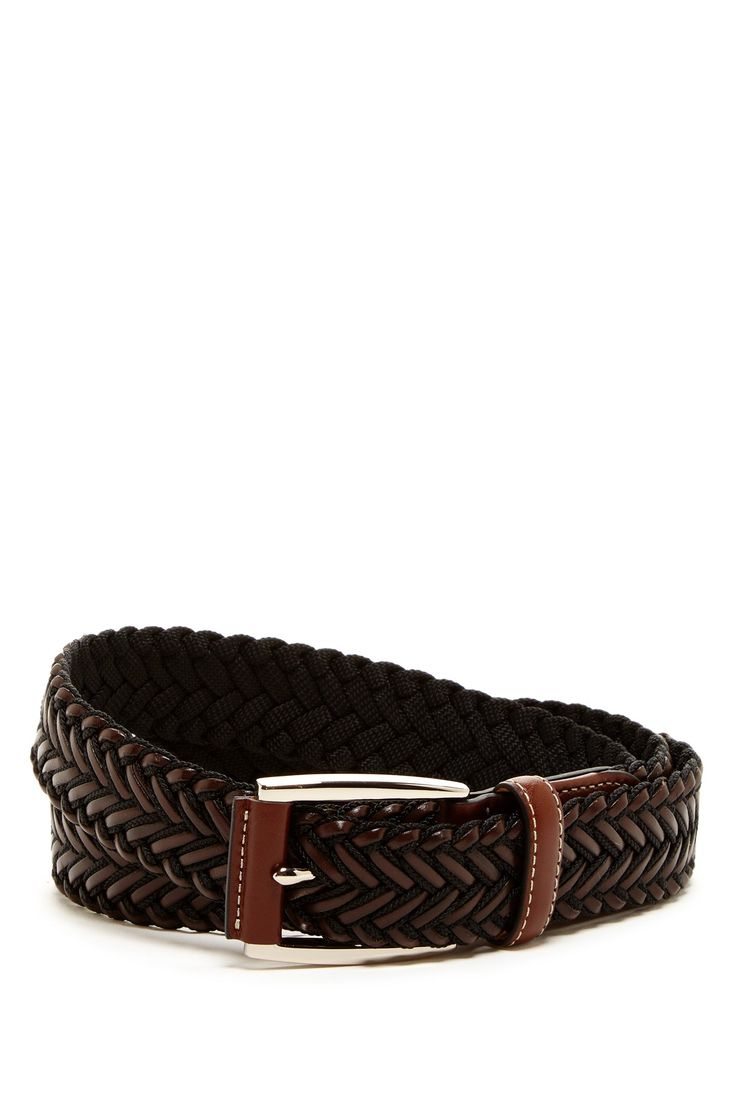 Leather & Web Braid Belt by Tommy Bahama on @nordstrom_rack