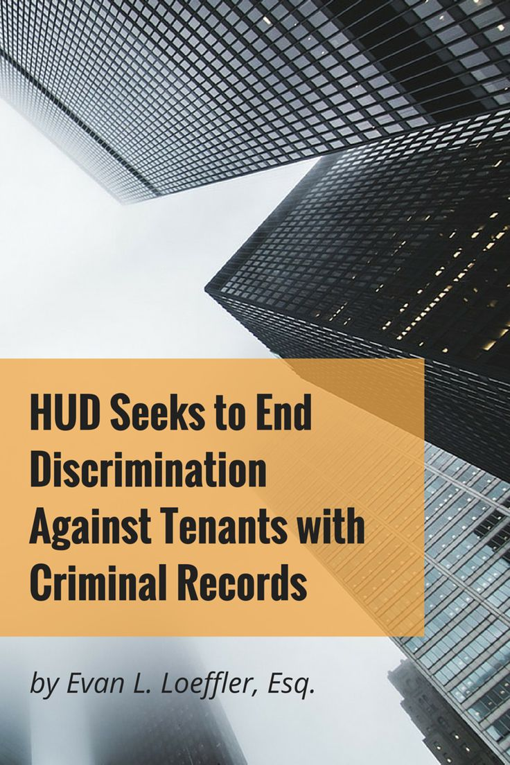 apartment manager resume%0A HUD Seeks to End Discrimination Against Tenants with Criminal Records     Criminal RecordProperty Management
