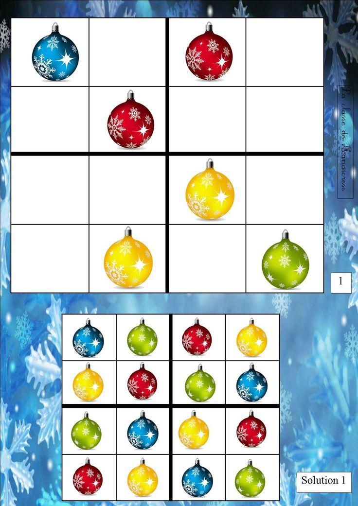 sudoku 1 joulu pikkueskari tehtävä värit muodot