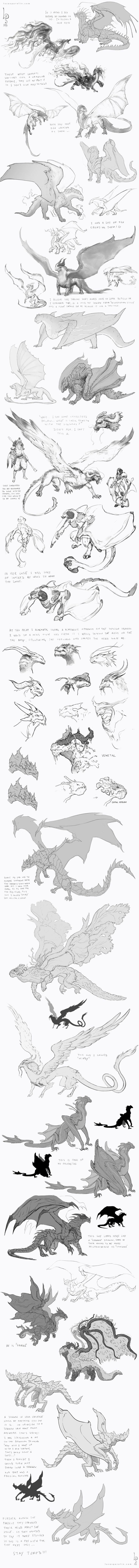 ArtStation - Concept Sketches - Dragons, Lucas Parolin
