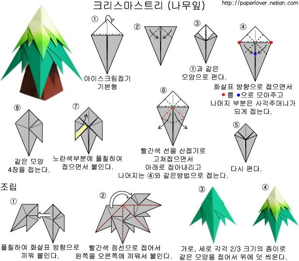 3d Origami Christmas Tree Instructions Image Collections