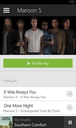 Spotify para Windows Phone 8 y 8.1 ahora permite escuchar música gratis en forma aleatoria, aunque por supuesto con ads.