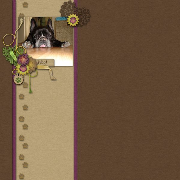 Woof - digital scrapbook layout i created using Dreaming of Pawsitivity by…