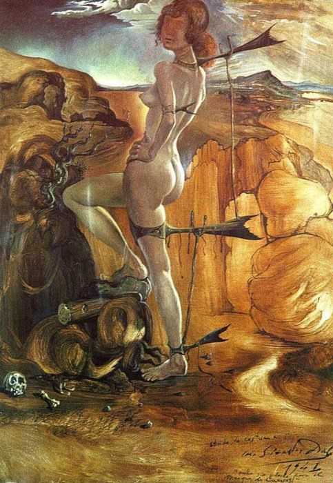 """SalvadorDali """"Costume for a Nude with a Codfish Tail"""" (1941)"""