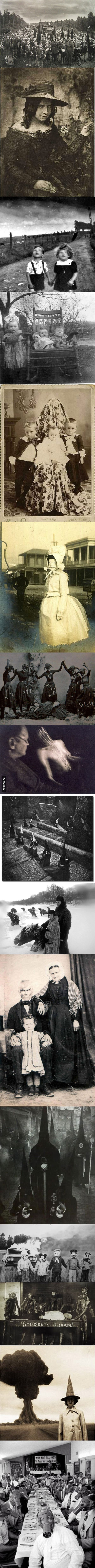 """15 creepy pictures of ancient people ~ that one dude in the middle has to be related to Lurch from """"Adams Family"""". :)"""