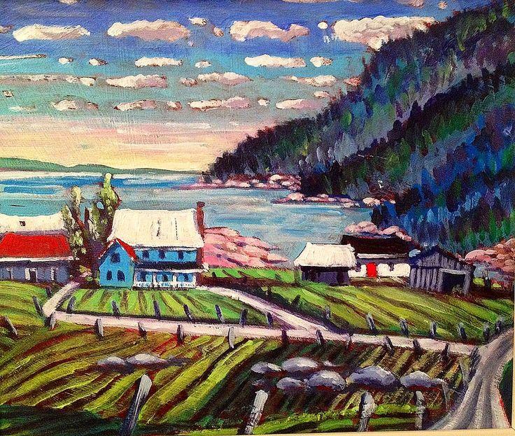 Evening Perce Rock  Acrylic 10 x12. andrewhamiltonfineart.com