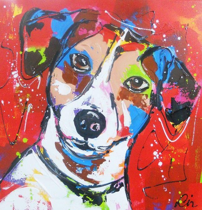 Jack Russel- www.vrolijkschilderij.nl
