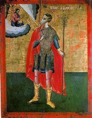 St Christopher with dog head