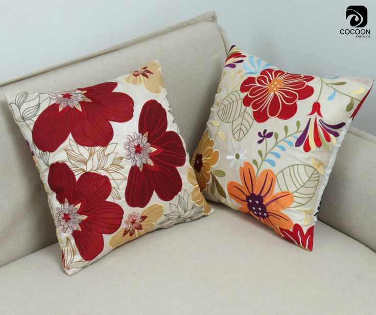 A large print on something small looks modern and cool. A large floral design on a pillow would have a sweet, fresh feel.
