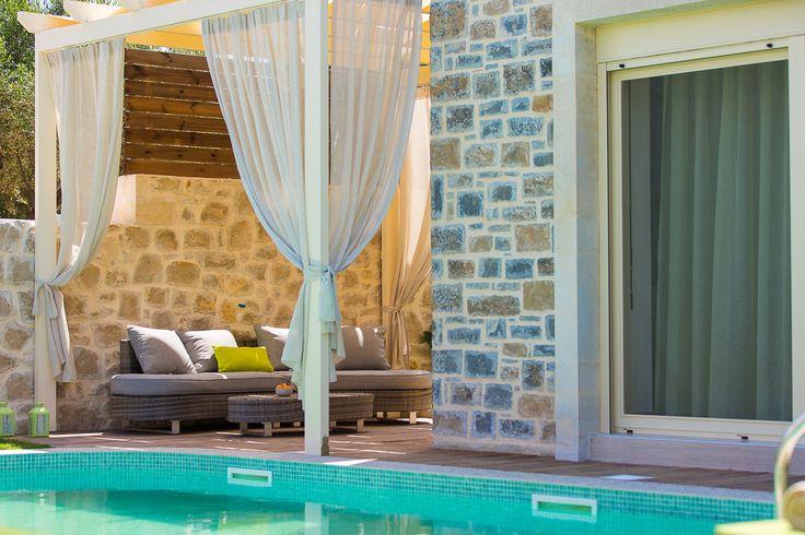 Mare Villas (Villa Green Mare) in Rethymno, Crete. #villa #greece #crete #vacationrental #luxury #private #pool #island #sea #view #blue #green