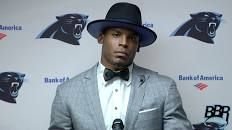 Cam Newton walks out of postgame press conference less than two minutes in