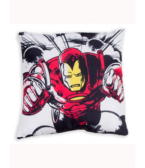 This Marvel Comics Crop Cushion makes a great addition to any fan's bedroom or as an accompaniment to your Marvel duvet cover. The design features The Hulk on one side and Iron Man on the other. The cushion comes pre-filled. Free UK delivery available.