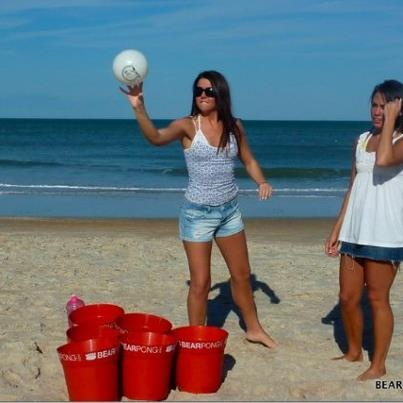 Beach Pong- Must do this next time at drive on!!