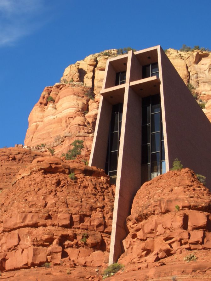 The Chapel of the Holy Cross is a Roman Catholic chapel built into the buttes of Sedona, Arizona, run by the Diocese of Phoenix, as a part of St. John Vianney Parish, Sedona, Arizona, USA.