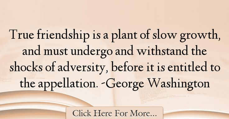 George Washington Quotes About Friendship - 25356
