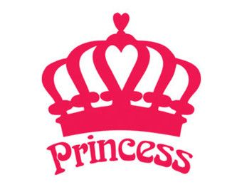 Princess Crown Decal Stencil Svg Dxf File Instant Download