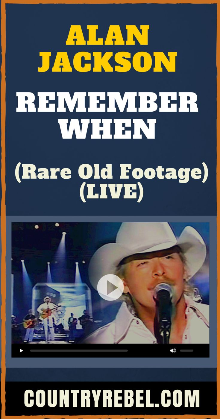 Alan Jackson - Remember When (Rare Old Footage) (LIVE) (VIDEO) Country Music Videos and Lyrics at >> http://countryrebel.com/blogs/videos/18329191-alan-jackson-remember-when-rare-old-footage-live-video