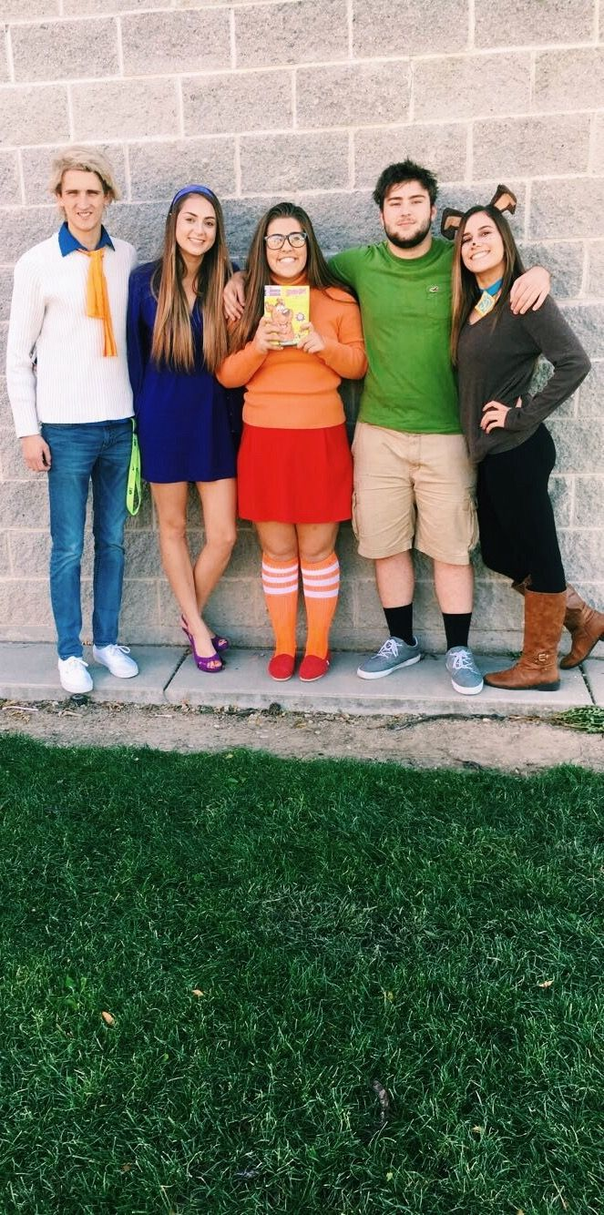 Scooby Doo Homecoming Spirit Costumes  Fred daphne Velma shaggy and scooby costumes