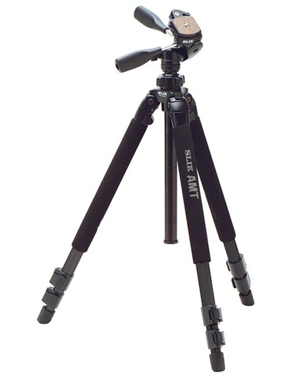 NEW SLIK Pro 3-Way 500DX Tripod With SH-705E Pan Head EMS Fast Free shipping