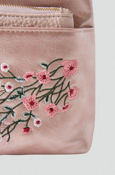 Poșetă plic cu broderie florală | ORSAY
