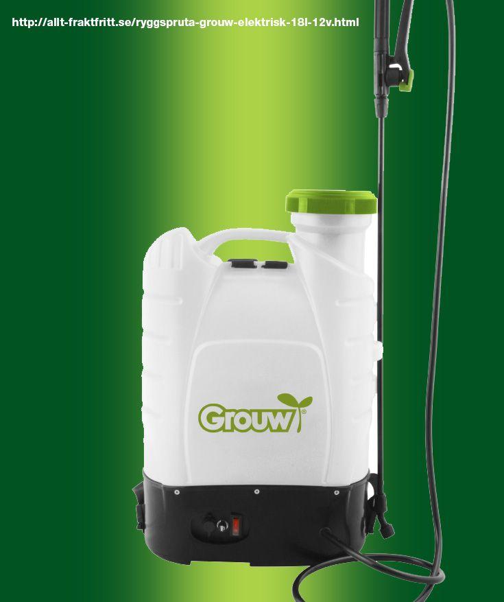 Ryggspruta Grouw Elektrisk 18L, 12V. Elektrisk ryggspruta så man slipper pumpa.