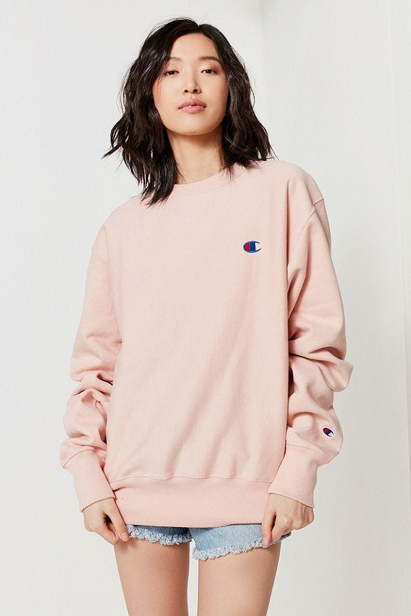 3b67470c8ecd Champion x Urban Outfitters  Blush Pink Logo Sweatshirt Is a Wardrobe  Essential