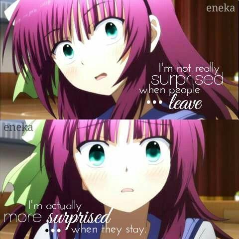 Não estou surpresa com pessoas indo embora, estou realmente surpresa com elas quererem ficar.
