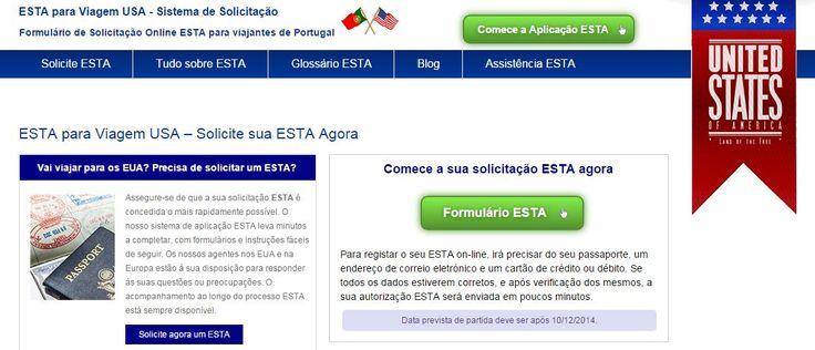 Viajanto para os EUA? Realize a solicitação online ESTA. Disfrute de um Visto sem complicações para viajar os Estados Unidos. Formulário em Português.