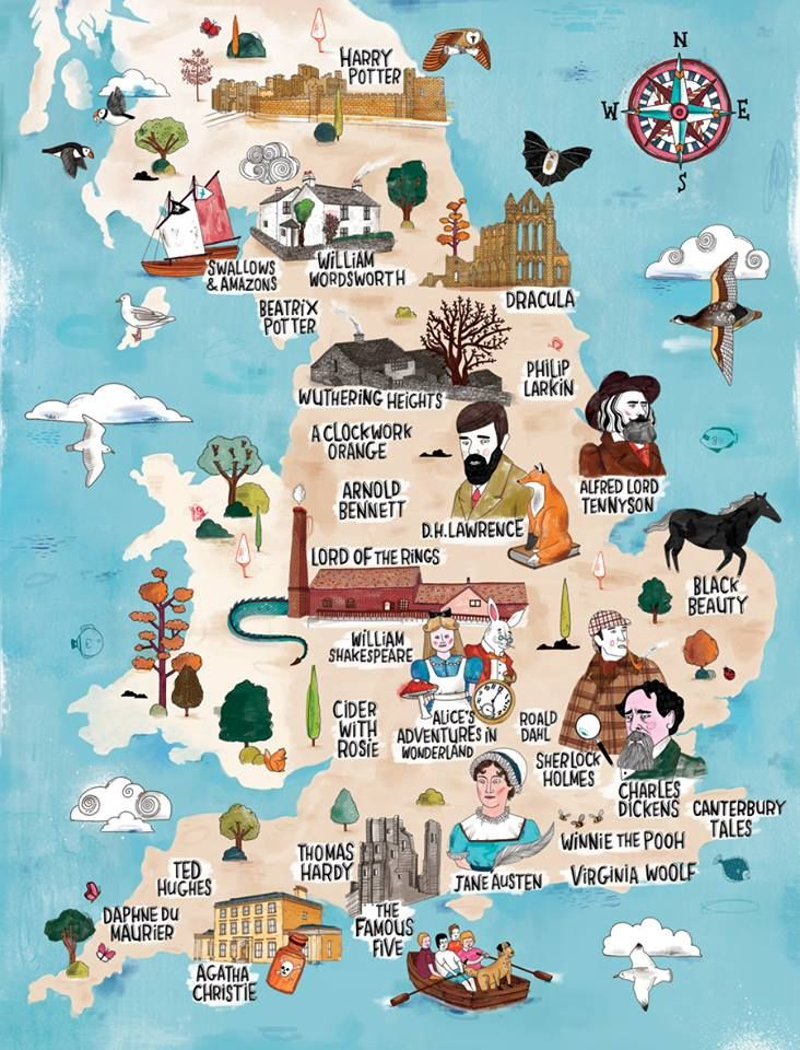 Literary map of Great Britain
