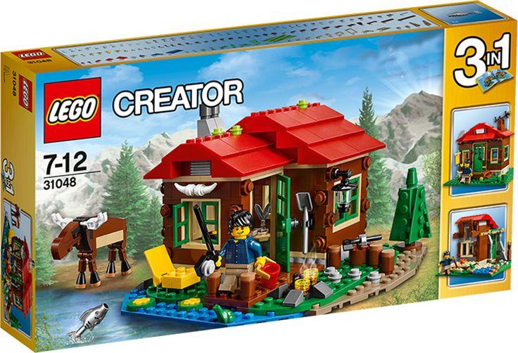 LEGO Creator 31048 Rantamökki LEGOn rakennuspalikkasarja: Creator 31048 Rantamökki.Rakenna oma lomanviettopaikka mieluisaan ympäristöön punaisista, ruskeista, vihreistä ja sinisistä osista ja kodikas sisustus, johon kuuluu hella, vuode ja pöytä. Pilko halkoja nuotiota varten, tee kalastuspaikka parvekkeelle tai nauti luonnon rauhasta ystävällisen hirven ja pienen sammakon kanssa. Kun kaipaat vaihtelua, rakenna osista observatorio tai pieni mökki.
